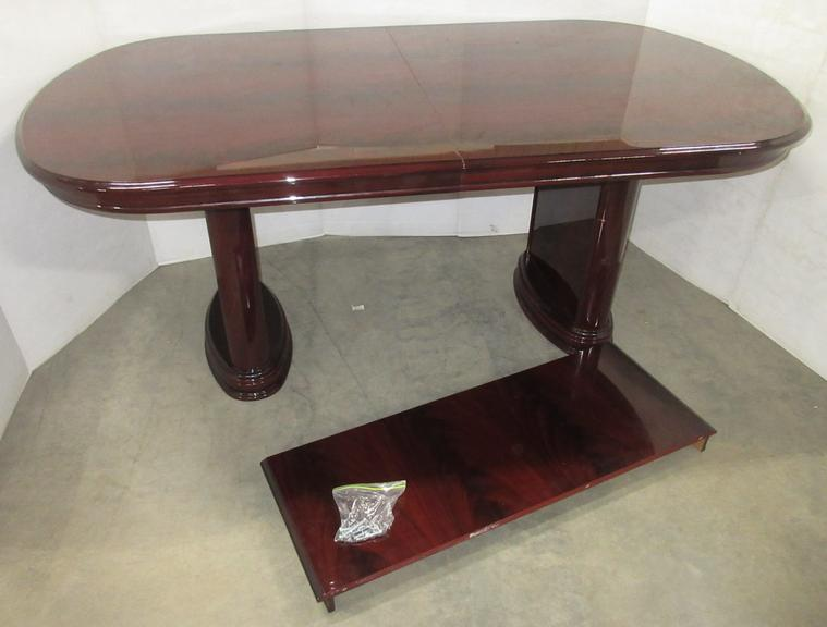 "ESF Furniture Milady Dining Table with 18"" Extension, Made in Italy, Has a High Gloss Lacquer Finish, Seller State MSRP was Almost $2,000, Matches Lot No. 3"