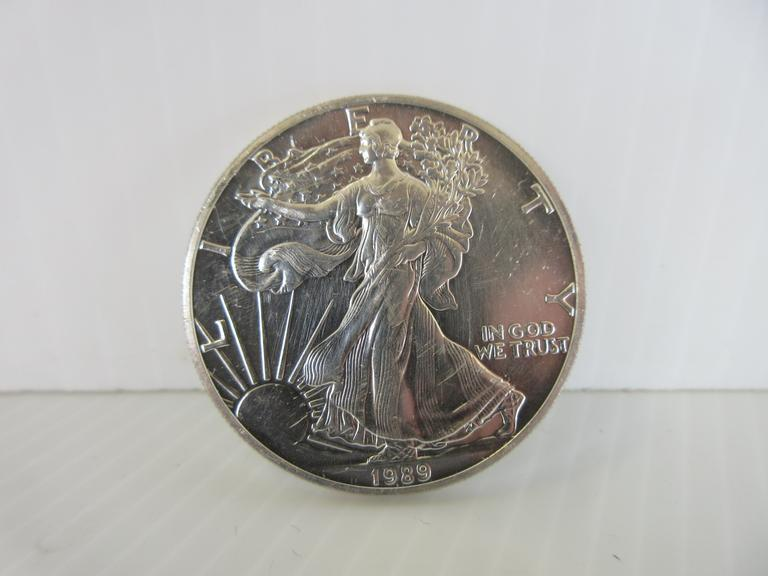 1989 Silver Eagle 1 oz. Silver Dollar Coin