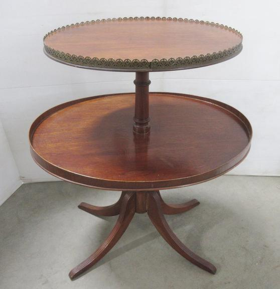 Antique Two-Tier End Table