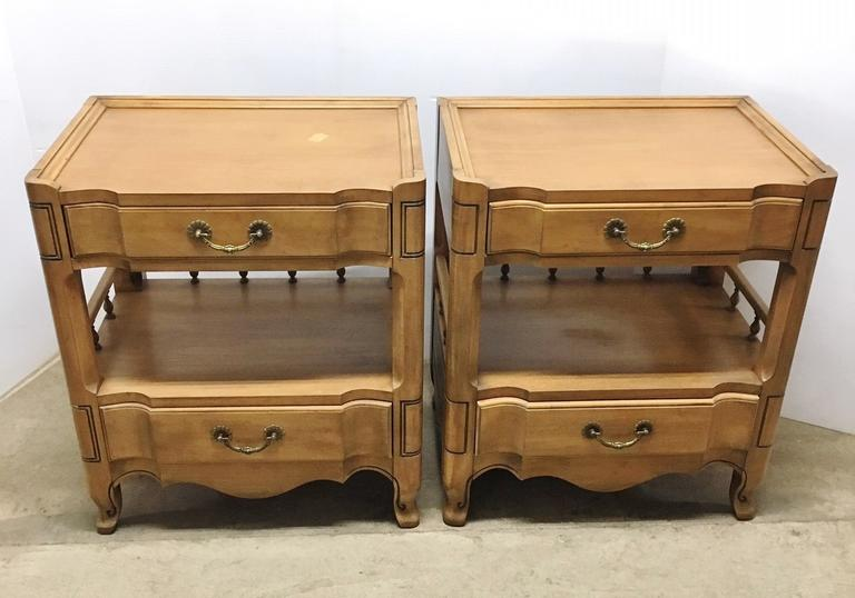 (2) Matching Unique Bedside or End Tables, Natural Color by Metz Furniture, Hammond, IN, Chateau 876, Well Made