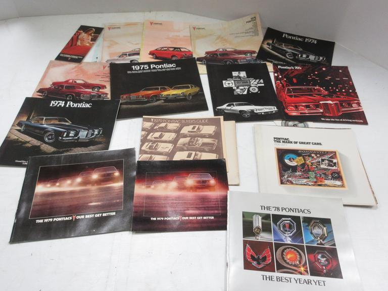 (23) 1970s Pontiac Sales Brochures and Pamphlets, Include: One- 1970, Three- 1974, Two- 1975, Nine- 1976, Two- 1977, One- 1978, and Five- 1979
