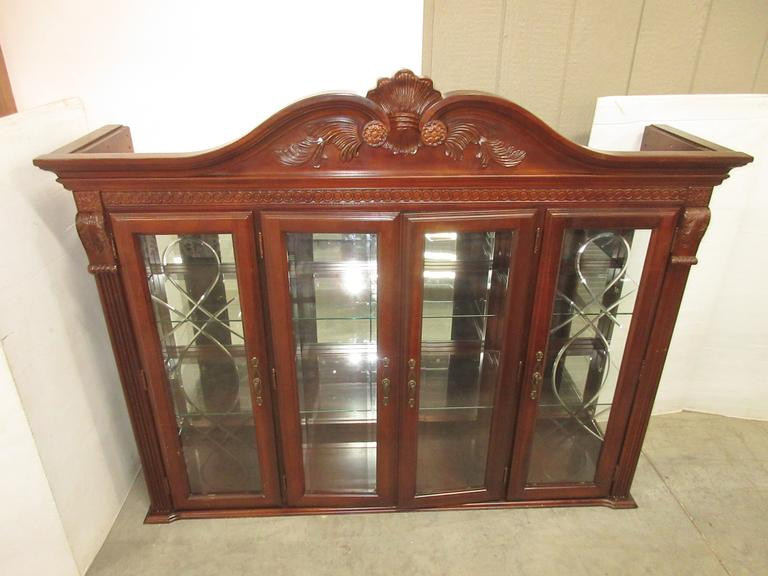 China Hutch Top with Lights and Six Glass Shelves