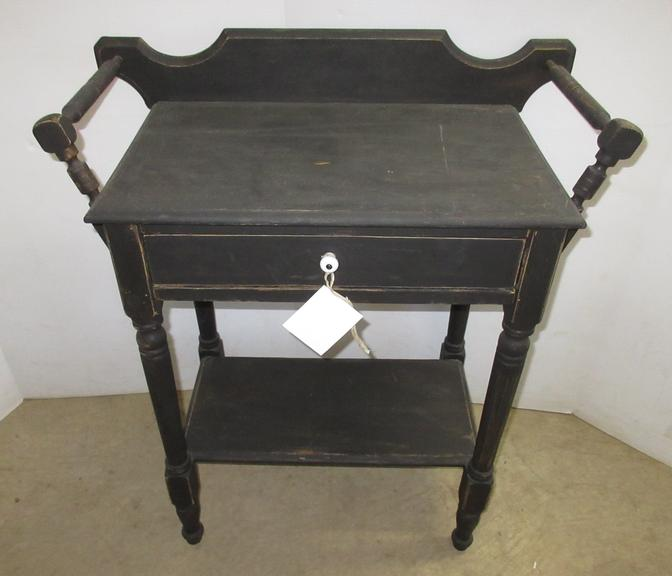 Antique Primitive Washstand, Distressed Black