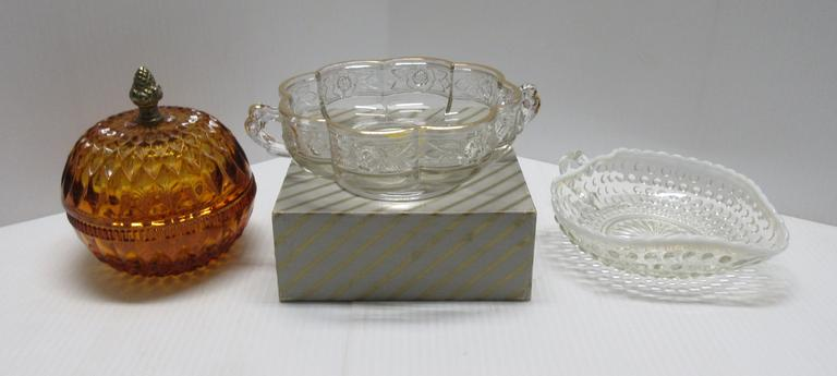 (3) Older Glass Nut/Candy Bowls, Various Shapes and Makes