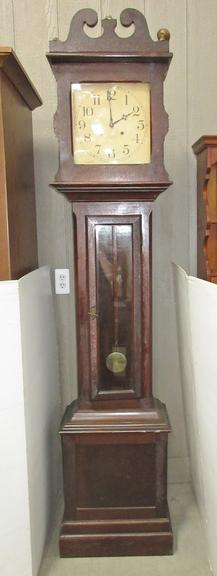 1895 Ithaca Tall Case Clock, Solid Mahogany