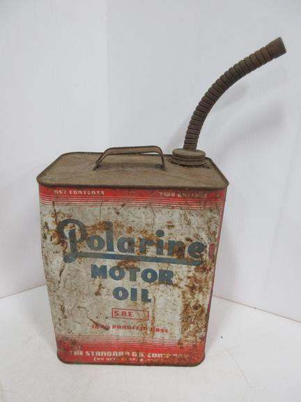 Polarine Motor Oil Can, Two-Cycle Can with Great Graphics