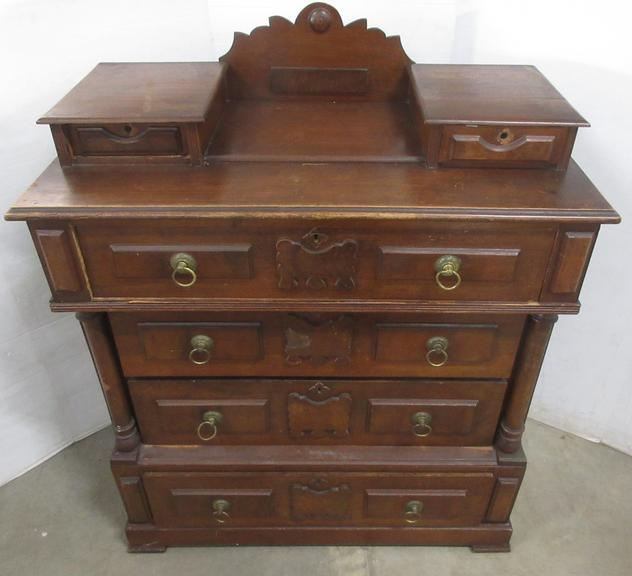 Antique Dresser with Glove Boxes