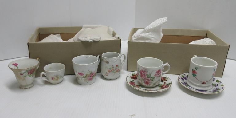 Assorted Small Antique Cups and Saucers