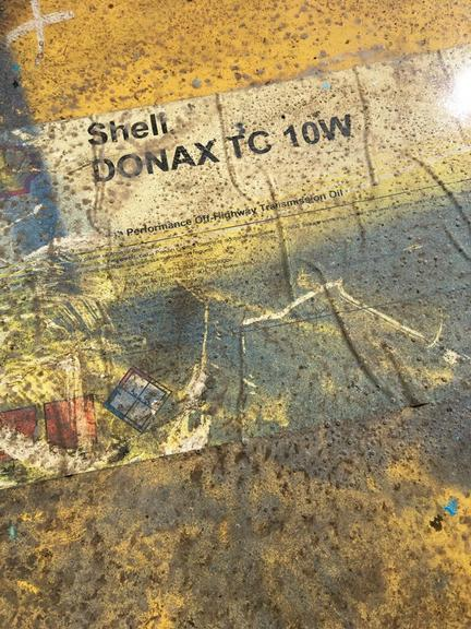 Oil - Donax TC 10W (55 Gallon Drum) by Shell (Drum C), NOTE:  Drum is Sealed
