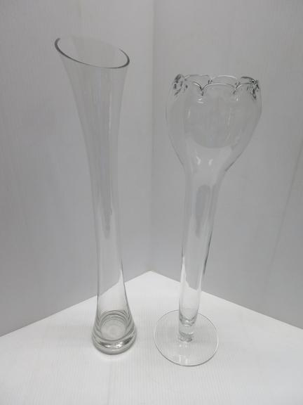 (2) Unusual Glass Vases