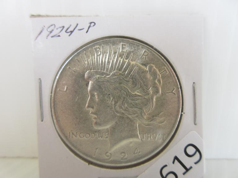 1924 Silver Peace Dollar Coin