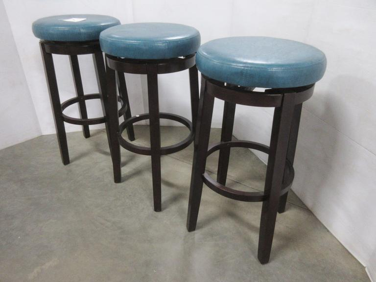 Set of (3) Round Swivel Bar Stools
