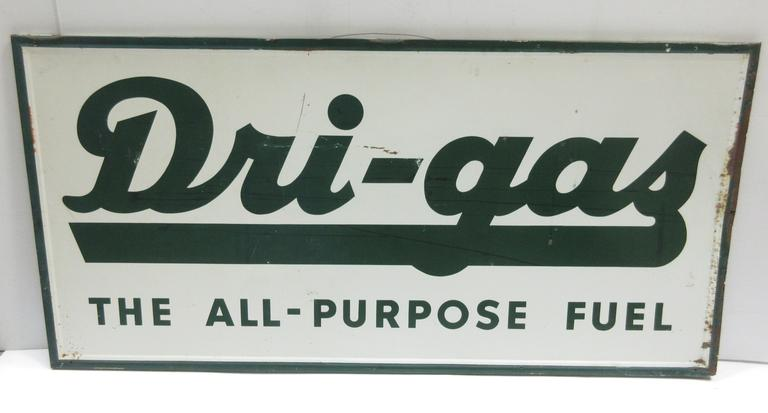 "Older Metal ""Dri-Gas: The All-Purpose Fuel"" Sign"