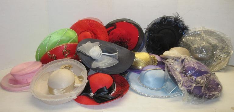 Over (15) Ladies Older Dress Hats, Various Styles