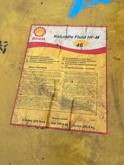 Oil - Naturelle Fluid HF-M 46 (55 Gallon Drum) by Shell, (Qty. 1), NOTE:  Drum is Sealed