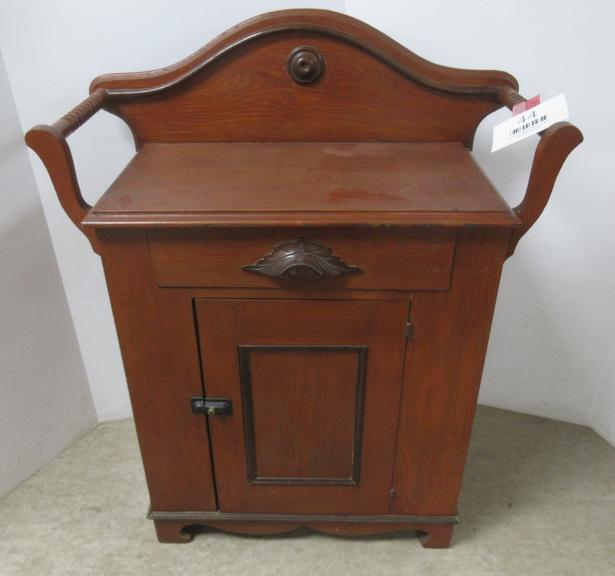 Victorian Wash Stand with Handles for Towels and Drawer for Storage