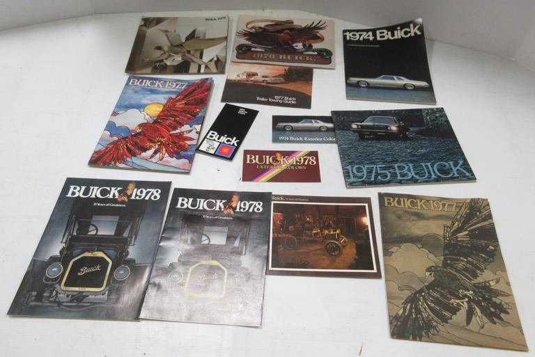 (14) 1970s Buick Sales Brochures and Pamphlets, Include: Two- 1974, One- 1975, One- 1976, Three- 1977, Four- 1978, and Three- 1979