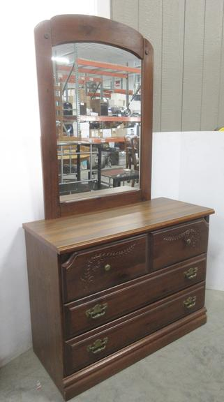 Older Dresser with Mirror