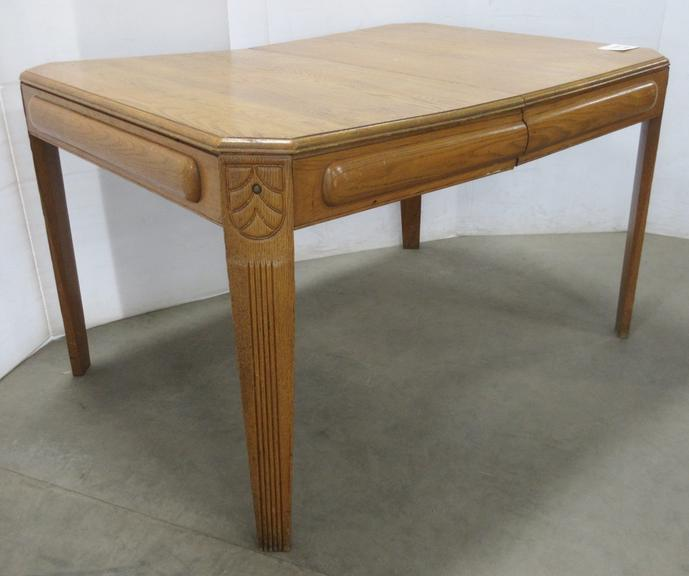 Antique Oak Table with Extra Leaf, Approx. 100 Years Old