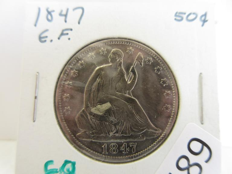 1847 Seated Half Dollar