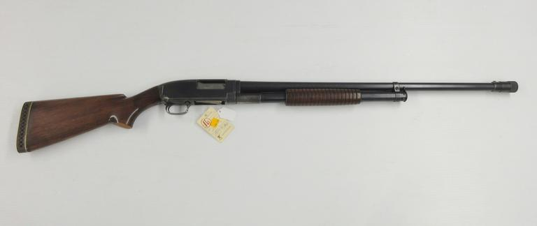"Winchester Model 12 12-Gauge Pump with 26"" Poly Choke, Made in 1938, Serial 7763XX"