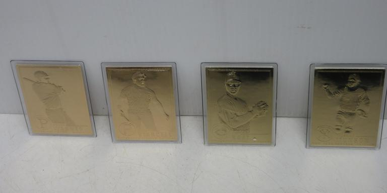 Albrecht Auctions 4 22k Gold Baseball Cards Authorized By Mlb
