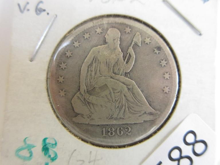 1862-S Seated Half Dollar