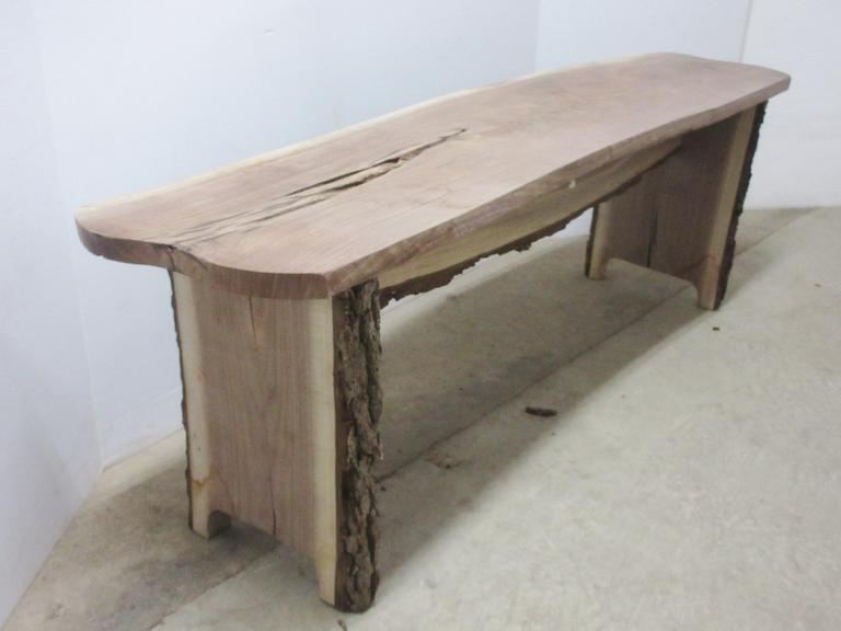 Black Walnut Bench, Live Edge