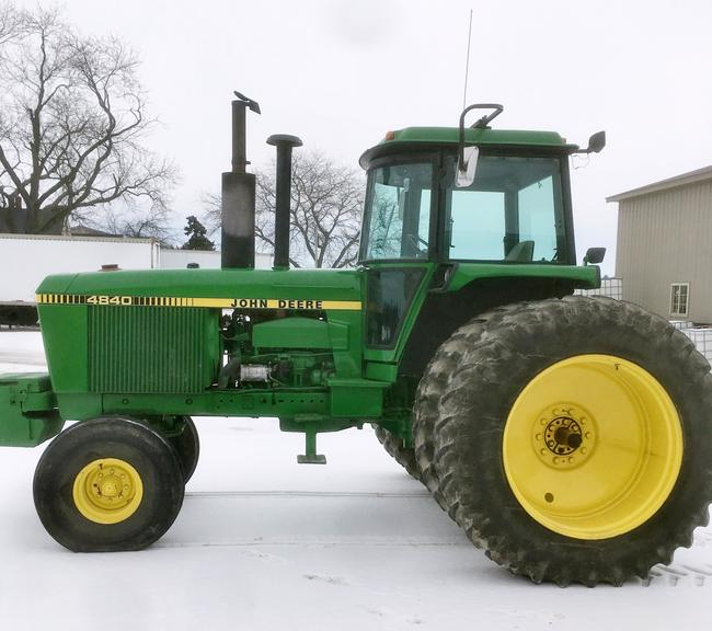 John Deere 4840 Powershift Tractor, 3-Hydraulic Outlets, New Interior, Looks and Runs Great