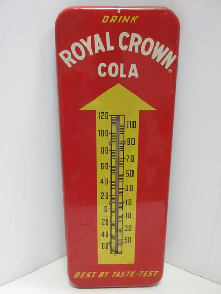 1953 Drink Royal Crown Cola Thermometer, Marked on Bottom