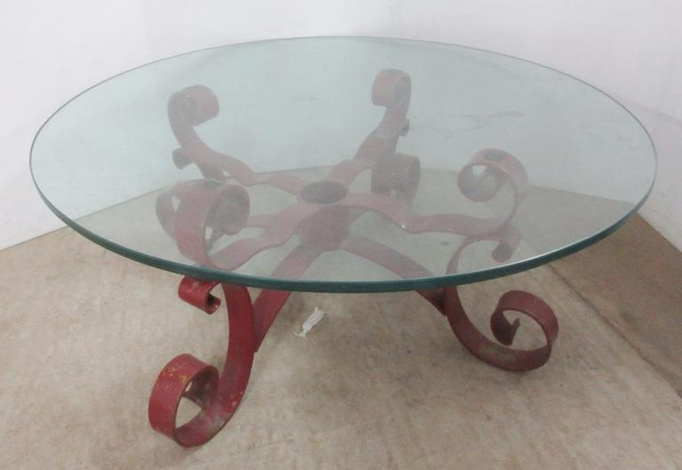 Coffee Table with  Heavy Strong Base and Thick Glass