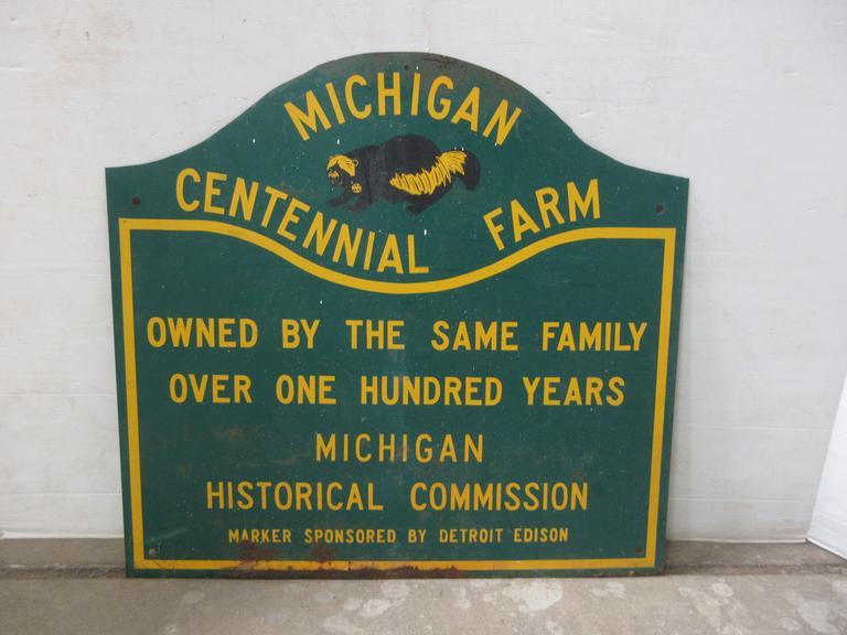 Albrecht Auctions Detroit Edison Michigan Centennial Farm Sign