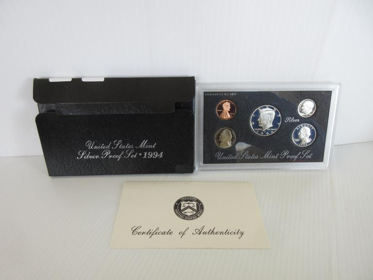 1994-S Five-Coin Silver Proof Set
