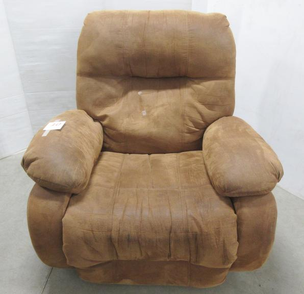 Saddle Brown Rocker Recliner, Matches Lot No. 9