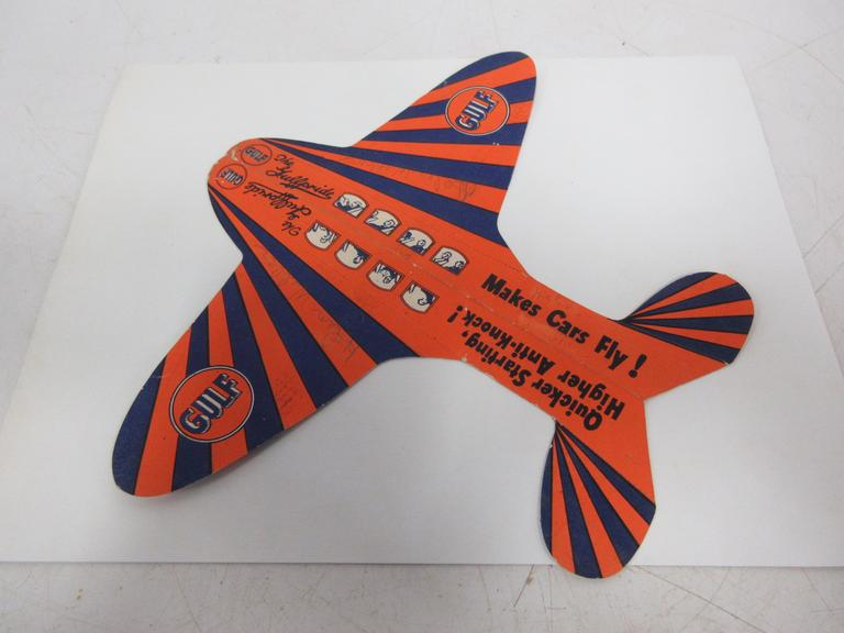 Gulf Oil Paper Airplane