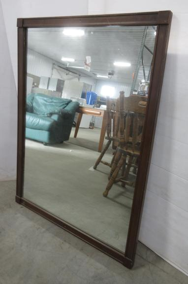 Antique Mission Style Mirror with Two Screw Holes, Very Heavy