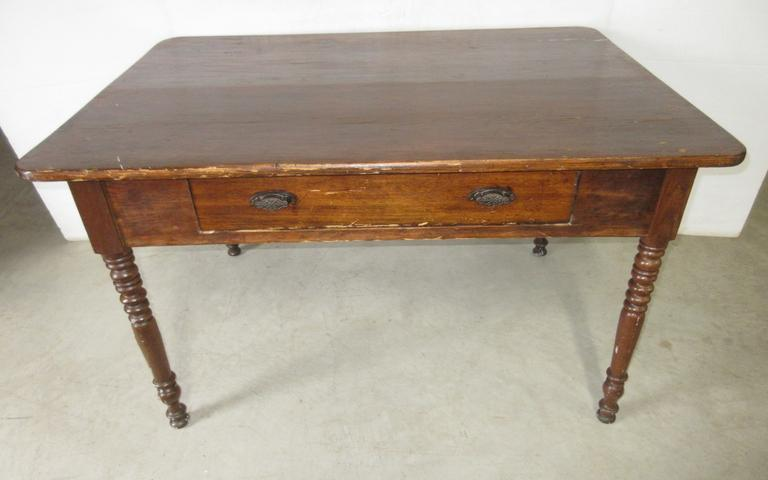 Farm Table with Center Drawer