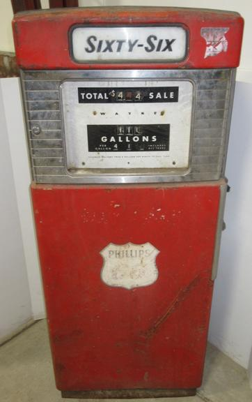 Phillips 66 Double-Sided Gas Pump, Made by Wayne