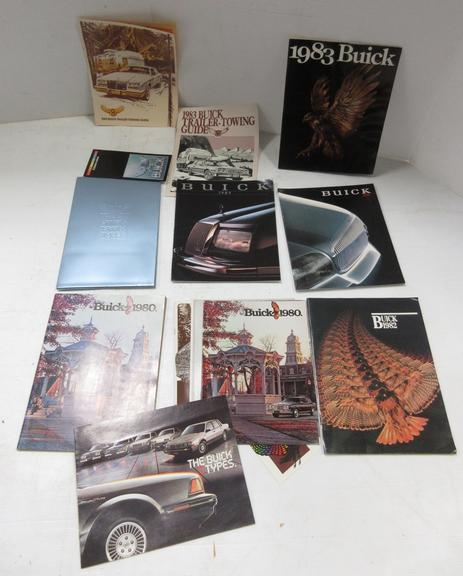 (19) 1980s Buick Sales Brochures and Pamphlets, Include: Five- 1980, One- 1982, Four- 1983, Seven- 1985, One- 1989, and One- 1990