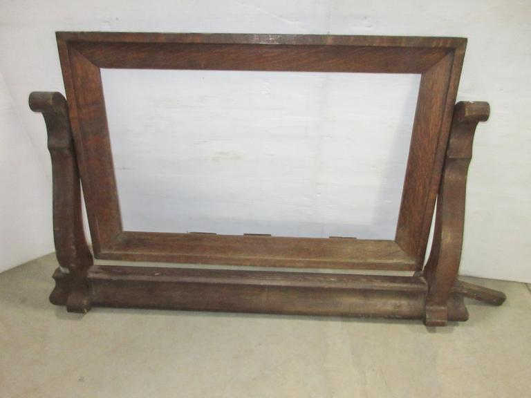 Antique Oak Frame for Dresser Mirror