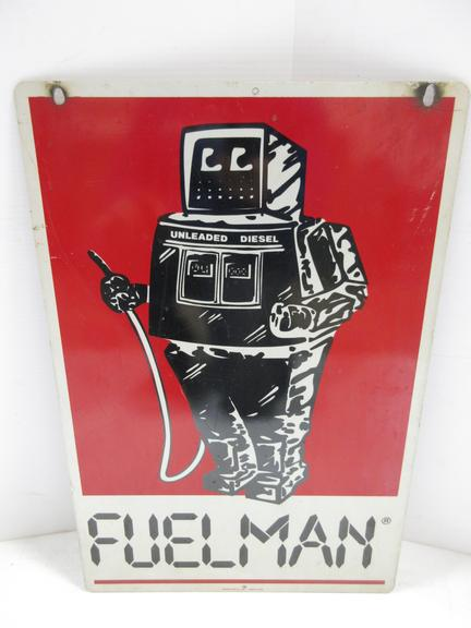 Older Double-Sided Metal Fuelman Sign