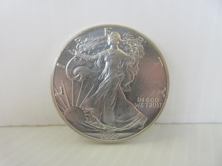 1990 Silver Eagle 1 oz. Silver Dollar Coin