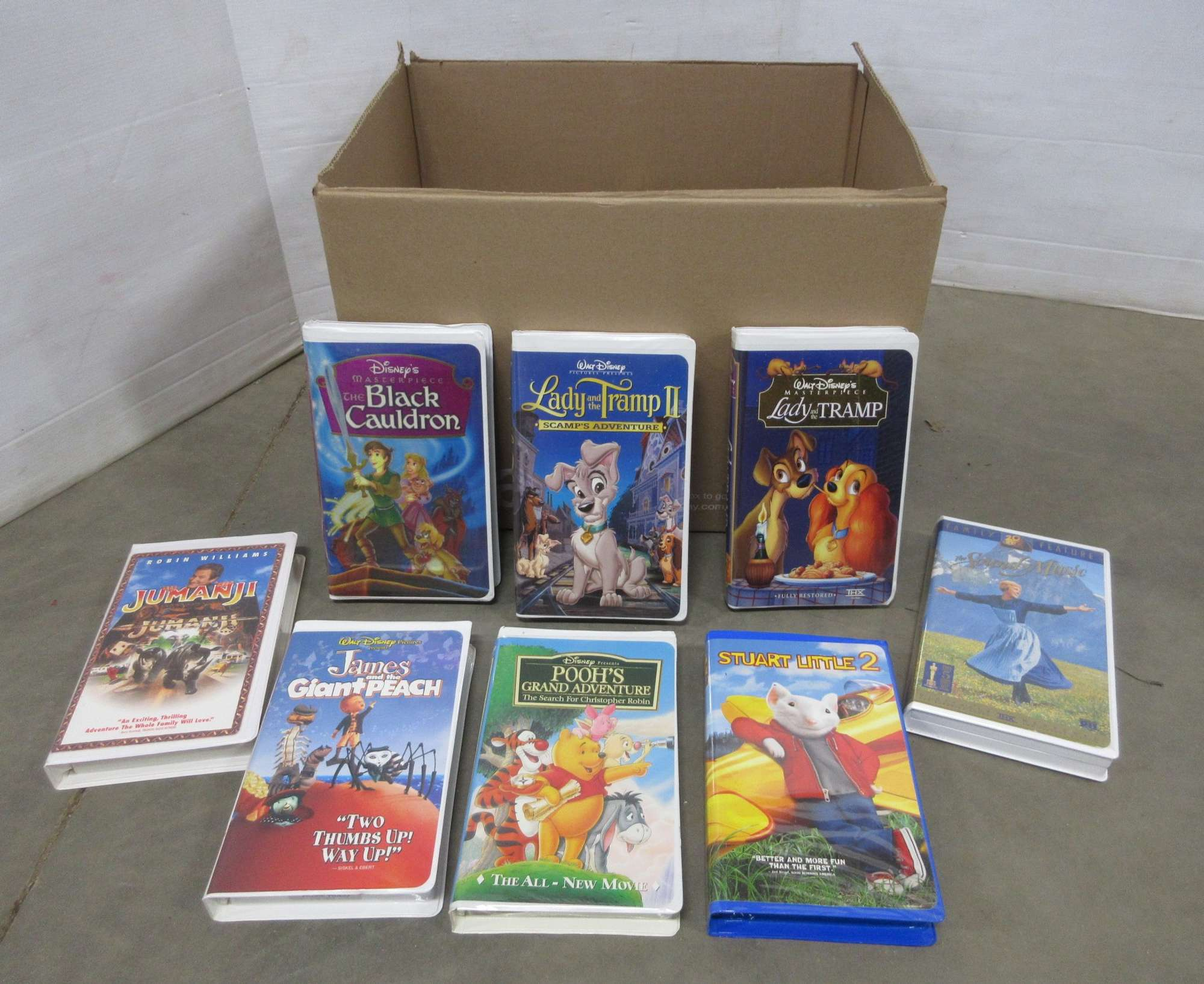 Albrecht Auctions 27 Cartoon Vhs Tapes Include Peter Pan Lady The Tramp I And Ii 101 Dalmatians 102 Dalmatians Snow White Lion King Dinosaurs Pocahontas Ii Stuart Little I And Ii And More