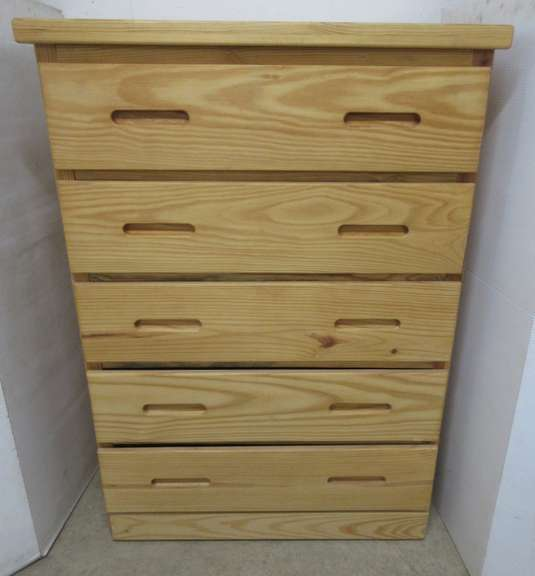 Barn Door Co. Chest of Drawers, Solid Pine, Made in Henderson, NC, Purchased at Art Sample Store, Matches Lot No. 3