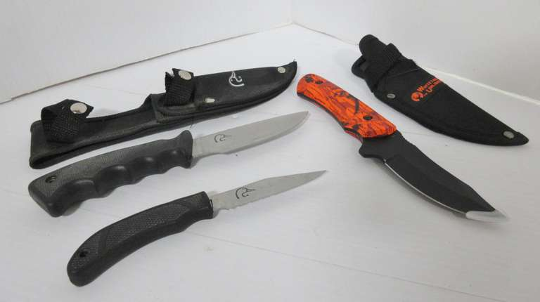 (3) Hunting Knives, Include: 1- Whitetails Unlimited, and 2- Ducks Unlimited