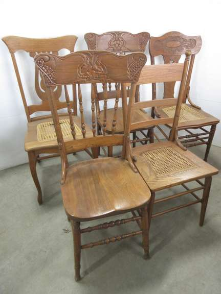 (5) Wooden Chairs, Various Styles