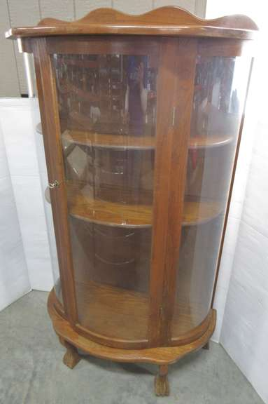 Antique Curio Cabinet with Key