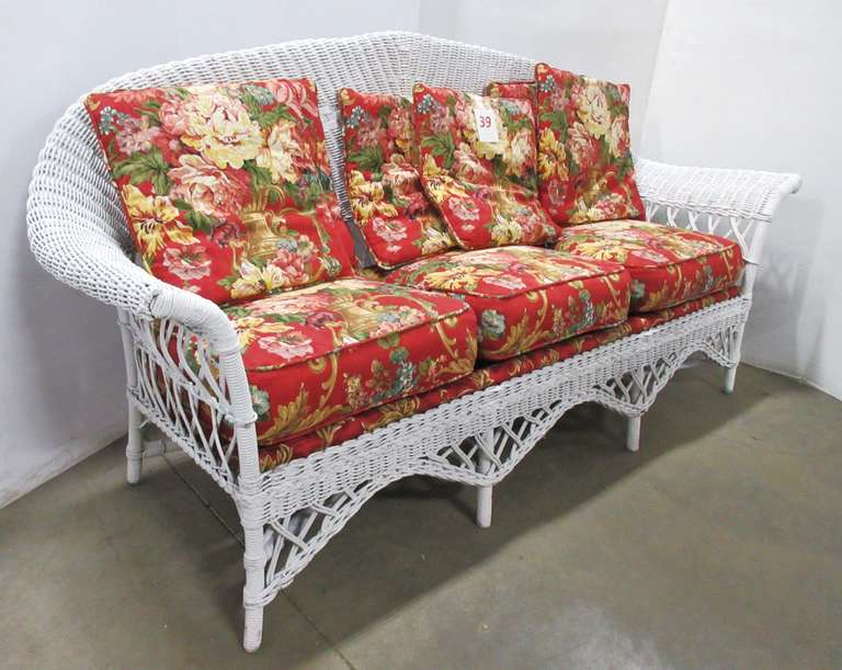 Antique Wicker Sofa