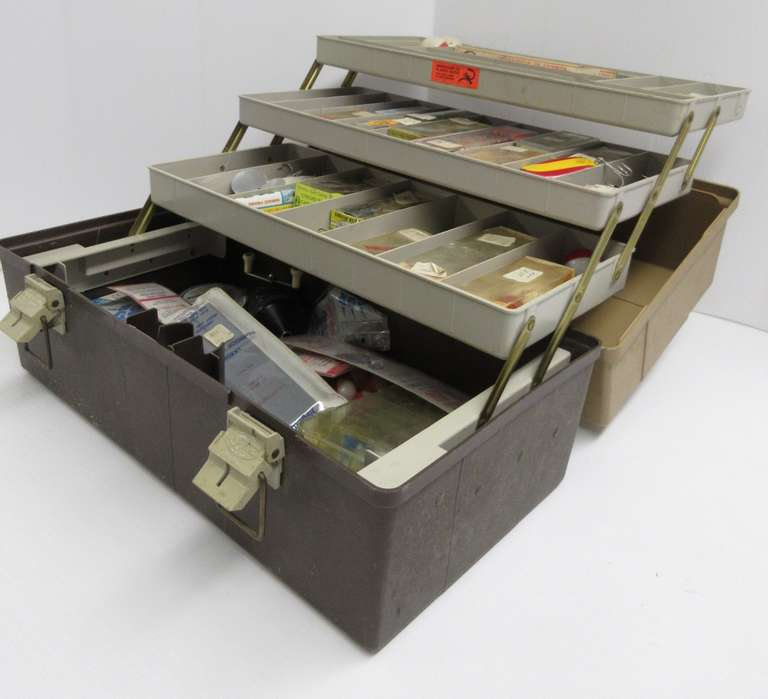 Tackle Box from the 1960s, Most Tackle Included with Original Boxes