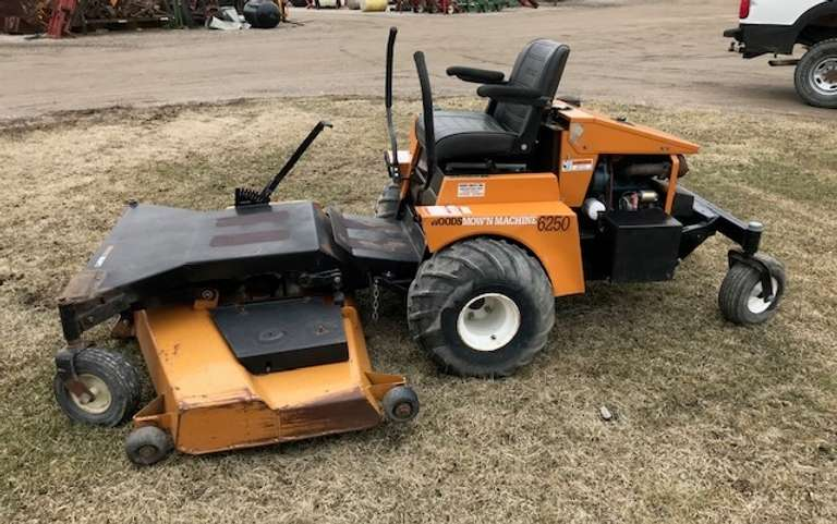 "Woods 6250 Mower with 72"" Deck, Kubota Liquid Cooled Gas Engine, 988 Hours.  Was Used to Mow the Lawn at the Store.  Runs and Mows Like it Should."